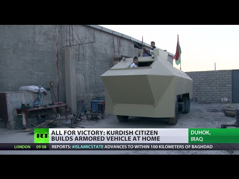 Homemade Apc: Kurdish Man Builds War Vehicle At Home To Fight Isis video