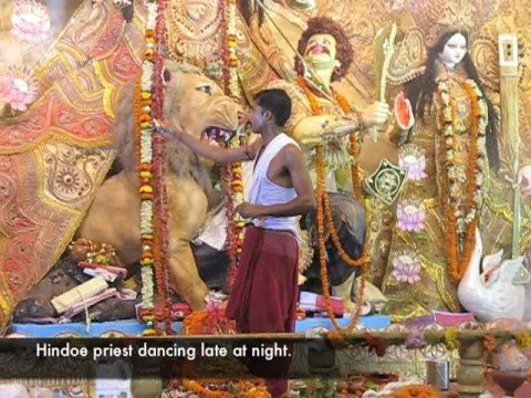 Celebration of Durga Puja in Calcutta