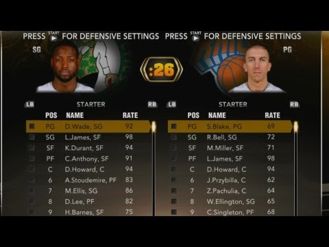 NBA 2K13 My Team - Suggestions for 2K14. All Star Team Opponent