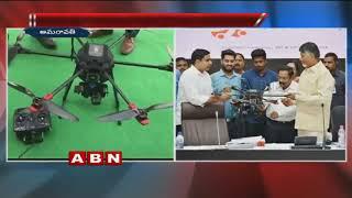 CM Chandrababu Naidu launches 1st drone by Andhra Pradesh Innovation Society
