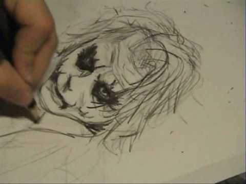 Drawing Heath Ledger's Joker Video