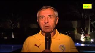 Alain Giresse -  Coach des Lions: ''Le résultat est mérité''