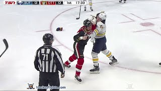 Nicolas Deslauriers vs Chris Neil Feb 16, 2016