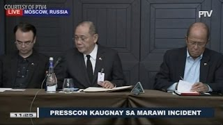 Press briefing on Duterte declaration of martial law in Mindanao
