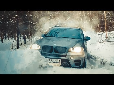 BMW Х5 на бездорожье. VW Touareg решил всех порвать. Toyota Prado с глушилкой. Infiniti QX80