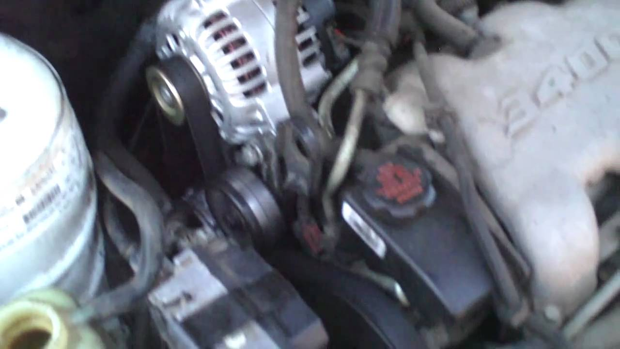 2000 pontiac grand am water pump location