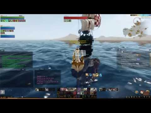 Archeage- Life or Death! Paddleboat vs Lute Song Junk!
