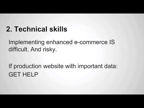 Pt 3: Requirements before implementing enhanced e-commerce (Google Analytics)