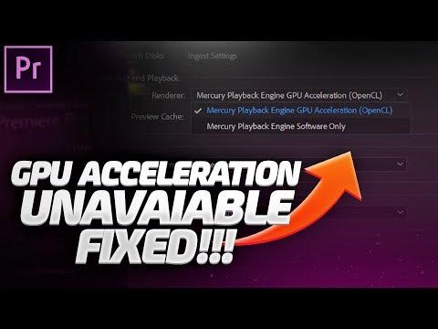 FIX! GPU Acceleration Unavailable In Premiere Pro CC 2019/2018 (GPU Support Fixed)