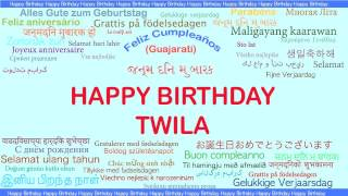 Twila   Languages Idiomas - Happy Birthday