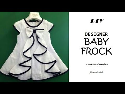 DIY Designer BABY FROCK cutting and Stitching full tutorial\PN'z World