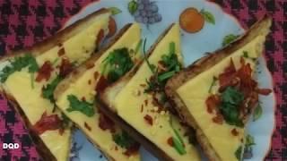 chilli cheese garlic toast/breakfast recipe/garlic bread toast/how to make tasty cheese toast
