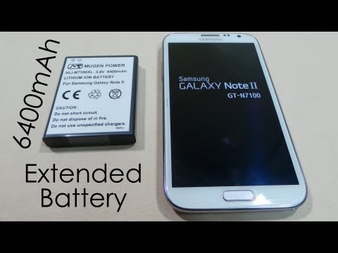 Galaxy Note 2 - Mugen 6400mAh Extended Battery Review - Looping Video Tests Included - Cursed4Eva