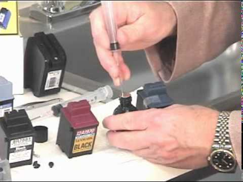 How to refill black sponge ink cartridges with the Universal Inkjet Refill Kit
