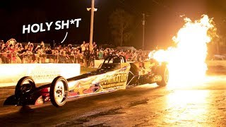 INSANE Jet car LAUNCH at Cleetus and Cars!