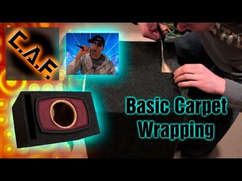 How to Carpet a Subwoofer Box - Wrap Speaker Enclosure Video - CarAudioFabrication