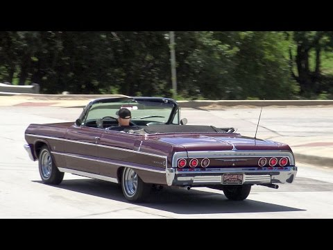 1964 Chevrolet Impala Convertible classic test drive & up close in 4K Ultra High Definition