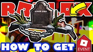 [EVENT] How To Get the Here Lies... Pauldrons - Roblox 2018 Halloween Event Tutorial - Graveshaker