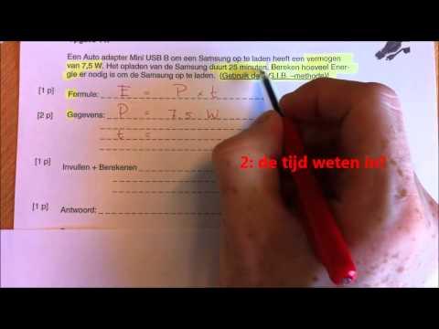 Elektrische energie berekenen met de F G I+B-methode