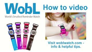 Wobl Watch | How To Set Watch