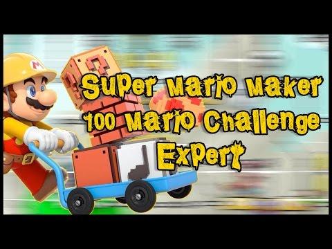 Super Mario Maker - 100 Mario Challenge - Expert (no commentary)