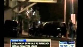 Pasien RS Pringadi Medan Berlarian Saat Gempa Menerjang