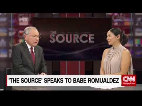 'The Source' speaks to Jose Manuel Romualdez