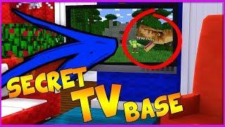 HOW TO LIVE INSIDE A TV IN MINECRAFT! (SECRET TV BASE CHALLENGE)