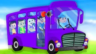 bánh xe trên xe buýt | vần trong Việt Nam | trẻ em pome | 3D Rhymes | Bus Song | Wheels On the Bus