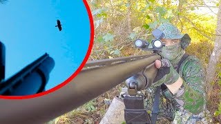 CROW HUNTING w: SCOPE CAM!