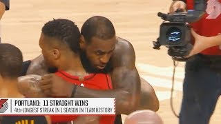 LeBron James Gives Damian Lillard Respect After Almost Walking Off the Court in Loss!