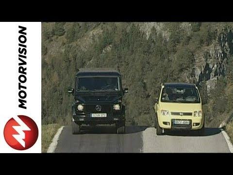 Fiat Panda 4x4 vs. Mercedes G-Class