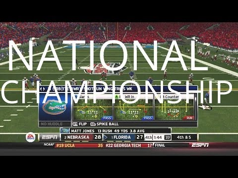 Florida Gators NCAA Football 14 Dynasty - National Championship vs. Nebraska - Season One