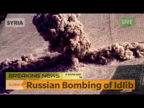 Russian Bombing of Idlib - Syria Breaking News