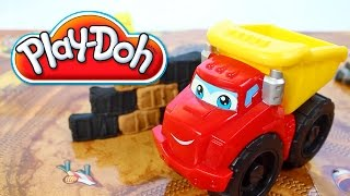 Play Doh Diggin Rigs Chuck the Dump Truck Grinding Gravel Yard Toy Playset Review