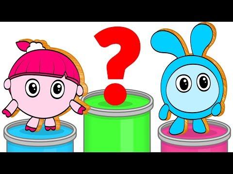 Мультик - РАСКРАСКА. Раскрашиваем МАЛЫШАРИКИ и Учим цвета. Обучающее видео для детей