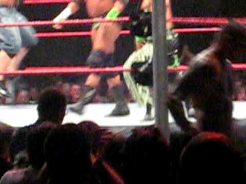 WWE Raw live at Cardiff 10/11/09. Ted Dibiase caught with his pants down Very Funny Video