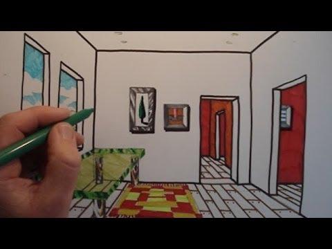 Видео как нарисовать помещение