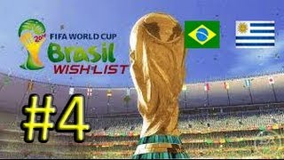 FIFA 14 WORLD CUP #4[CAMPIONE] BRASILE-URUGUAY -QUARTI ALL'ULTIMO SANGUE!