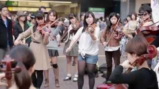 渋谷ハチ公前 オーケストラフラッシュモブ Orchestra Flash Mob In Shibuya Hachiko Japan 2014 10 25