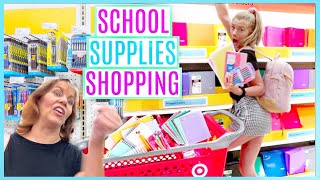 BACK TO SCHOOL SUPPLIES SHOPPING w/my CRAZY MOM | (senior year) 2019