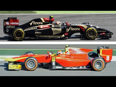 HQ Sound Comparison F1 2014 vs GP2 vs F1 2013
