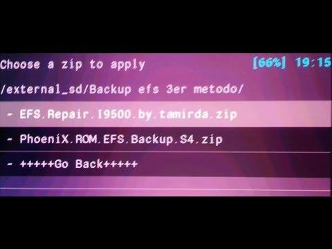 Galaxy S4 GT I9500 COPIAR Y RESTAURAR carpeta EFS -Backup and Restore- (3er procediemiento)