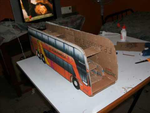 Elaborando una maqueta de un bus - YouTube