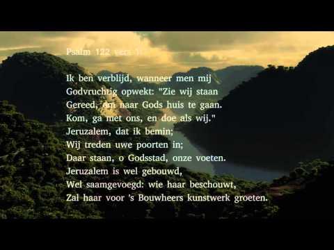 Psalm 122 vers 1 en 3 - Ik ben verblijd, wanneer men mij
