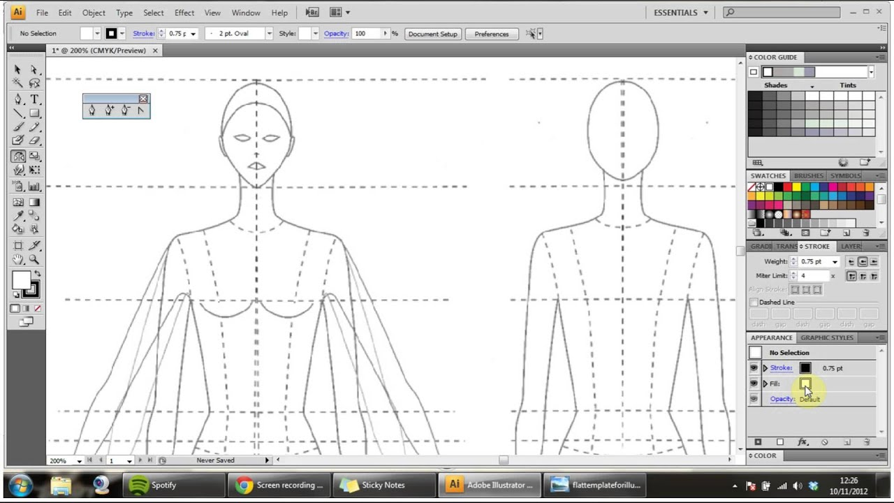 How To Draw Technical Flats For Fashion Part 1 Youtube