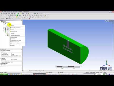 Видео-урок Cadfem Vl1113 - Односторонний сопряженный Fsi анализ в Ansys Workbench video