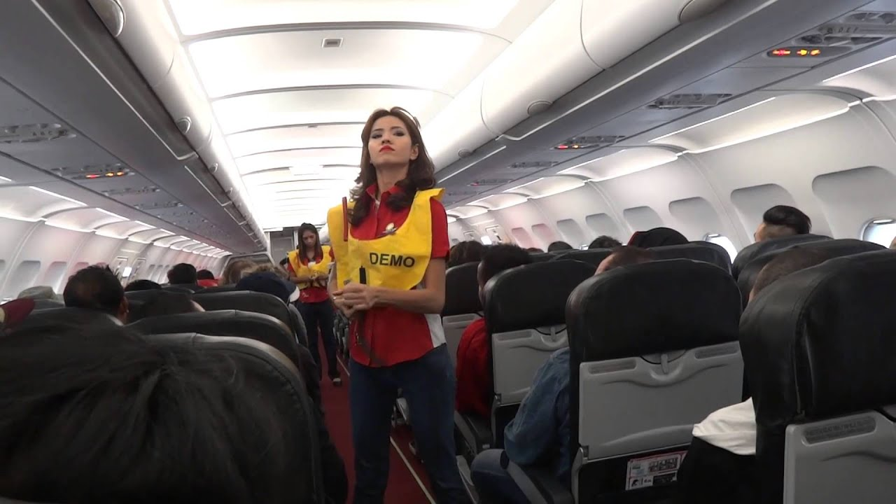 Airasia Awesome Safety Announcement Ak1366 Youtube