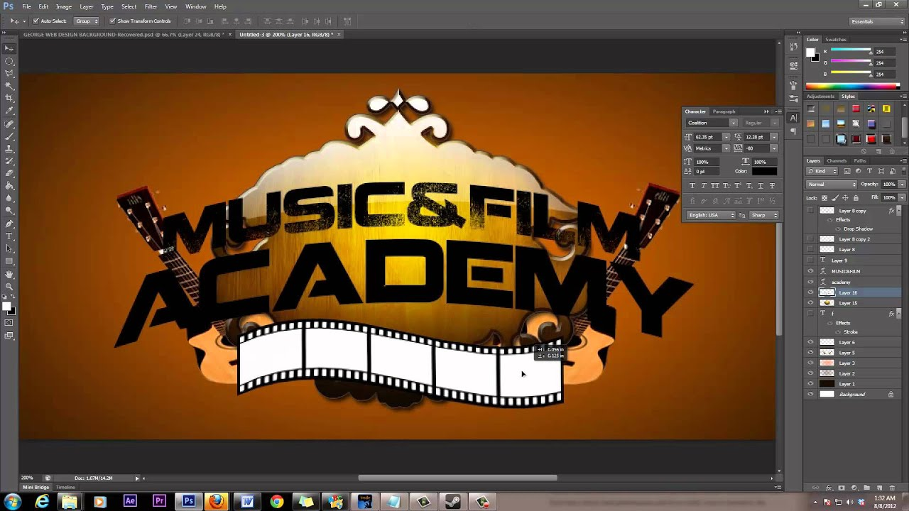 Photoshop Graphic Design Templates Making a Graphic Logo Using