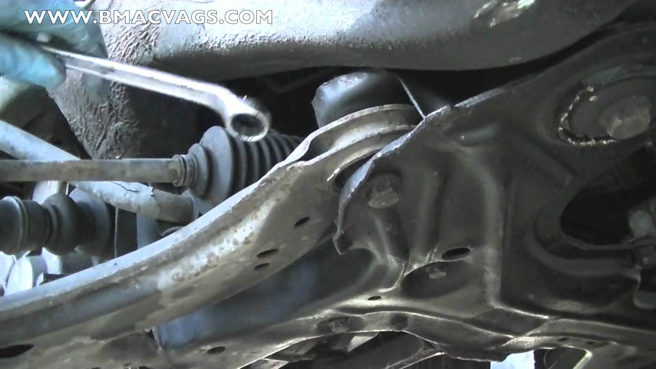 How To Remove A Vw Lower Control Arm Wishbone Youtube